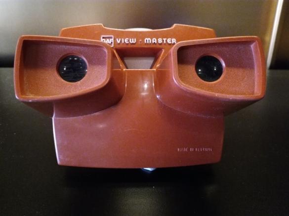 Hellyyttävä View Master oli lapsille rakas lelu.