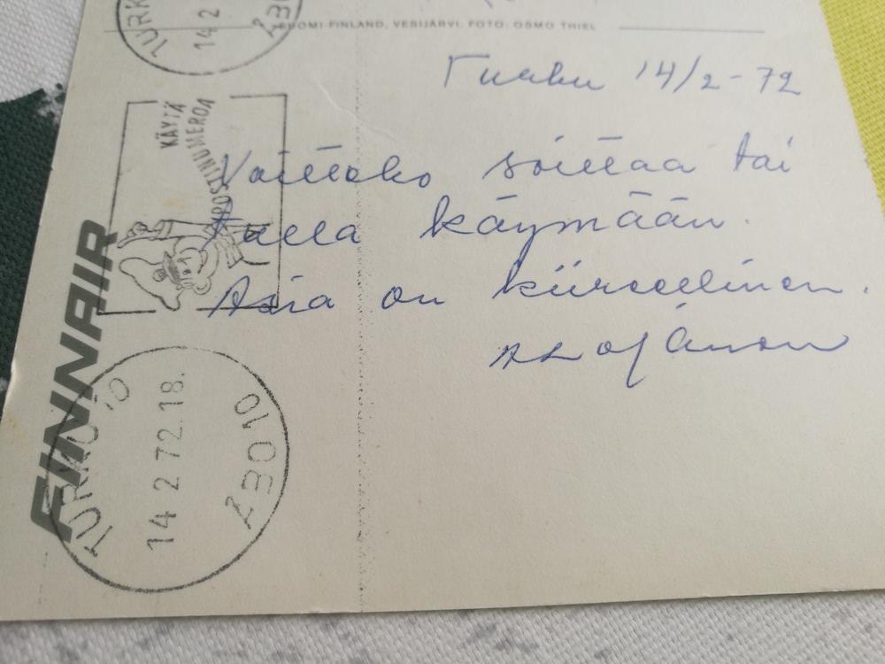 Kutsu työhaastatteluun kävi postikortilla.