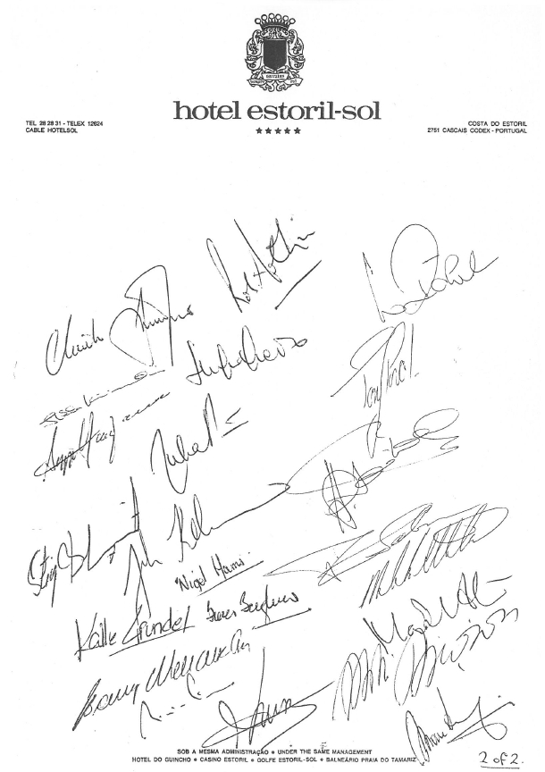 Turvallisuusvetoomuksen allekirjoitukset