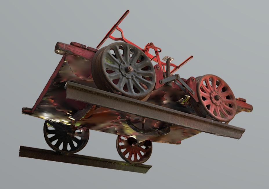 Pumppuresiinasta tehdyn 3D-mallin pohja