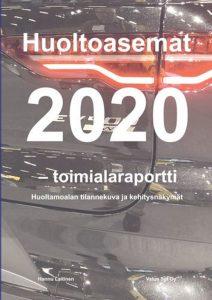 Huoltoasemat 2020 -kirjan kansikuvassa on auton takakulma.
